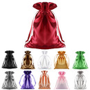 Opromo Satin Gift Bags Drawstring Pouch Wedding Candy Jewelry Silk Bags