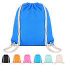 Opromo Blank Cotton Cloth Drawstring Bags Gym Sports Backpack