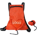 Custom 210D Polyester Fold Up Backpack (Heart Shaped), 13 2/5