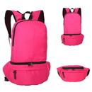 Blank Foldable Waterproof Nylon Backpack, Fanny Pack, 15 3/4