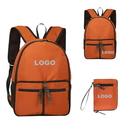 Custom Waterproof Nylon Folding Backpack, Convenient Carrying Outdoor Bag, 15 3/4