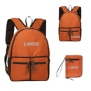 Custom Waterproof Nylon Folding Backpack, Convenient Carrying Outdoor Bag, 15 3/4