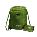 Custom Tear-Resistant 210T Polyester Foldable Drawstring Bagpack, 18