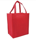 Customized Reusable 80G Non-woven Shopping Tote Bag, 12.5