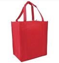 Customized Reusable 80G Non-woven Shopping Tote Bag, 12.5