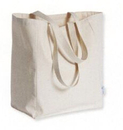 Blank Recycled Cotton Canvas Tote Bag, 13