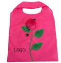 Custom Hand Bag Folded in a Rose Shape Pouch, 13.8
