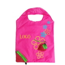 Customized Foldaway Strawberry Shopping Bags, 13.8