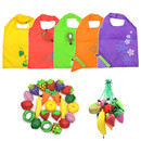Folding Fruits Reusable Grocery Shopping Tote Bags Pouch Storage Bags Convenient for Shopping Travel, 13.8