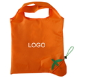 Customized Foldaway Orange Shopping Bags, 13.8