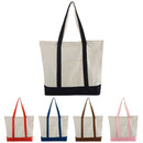 Blank 12oz Two-Tone Cotton Boat Tote Bag, 18