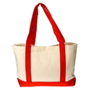 Customized 12oz Two-Tone Cotton Boat Tote Bag, 18