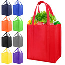 Opromo Reusable Reinforced Handle Grocery Tote Bag Large Shopping Bag, 13