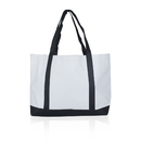 600D Polyester Tote Bag with Window Pocket, 21