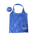 Custom 190T Polyester Fold Up Reusable Shopping Tote, 15