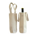 Blank 16 oz. Canvas Wine Tote Bag, 4 1/4