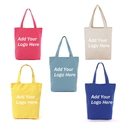 Custom Polyester Gift Tote Bags for Party Favors, 12.5