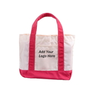 Custom Small Canvas Deluxe Tote Bag, 13 3/4