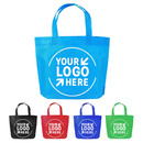 Full Color Custom Non Woven Tote Bag, Rainbow Colors Treat Bags Shopping Grocery Tote for Party, Gift, Favor, School
