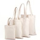 Natural Cotton Canvas Shopping Grocery Bag Tote Bags(3 Sizes)