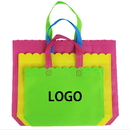 Custom Fashion Lace Non-woven Shopping Bag Grocery Bag Tote bag(3 Sizes)