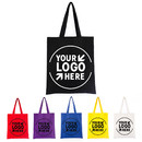 Custom 12oz 100% Cotton Canvas Tote Bag Reusable Grocery Shopping Bags, 14