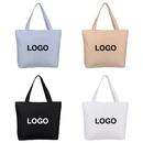 Custom Zipper Waterproof PU Coated Tote Bag, Reusable Grocery Shopping Bag