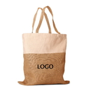 Custom Eco-Friendly Jute Burlap Shopping Bag / Jute and Cotton Combination