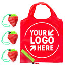 Custom Strawberry Reusable Foldable Grocery Shopping Bags with Handles