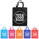 Custom Non Woven Grocery Tote Bag Multipurpose Art Craft Screen Print Gift Bag with Handle, 3 Sizes 12 Colors