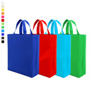 "10 Pieces Reusable Non Woven Grocery Bag with Handles, 11 4/5""Lx4""Dx15""H, 10 Colors"