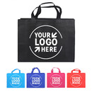 Custom Non Woven Grocery Tote Bag Multipurpose Screen Print Gift Bag with Handle, 3 Sizes 12 Colors