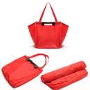 4 Colors Large Shopping Grocery Bag with Strong Handles and Zipper Mesh Inside Pocket