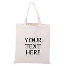 Custom Reusable Cotton Canvas Shopping Bag Personalized Cotton Tote Bag