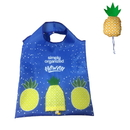 Opromo Foldable Reusable Grocery Bags,Pineapple Designs