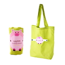 Custom Folding Reusable Shopping Bags with Button for Groceries Traveling Recycle Gift Bags