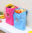 Opromo Folding Reusable Shopping Bags with Button for Groceries Traveling Recycle Gift Bags