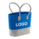 Opromo Custom Felt Tote Bag Reusable Shopping Bag Grocery Tote Essentials Shopping Bag in Two Tone Felt