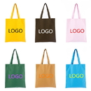 Custom Canvas Reusable Grocery Tote Bag, 16 Colors, 14