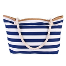 Opromo Extra Large Canvas Beach Bag, Shoulder Zipper Beach Tote Huge Bag with Cotton Rope Handles