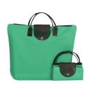 Opromo Women's Tote Crossbody Bag Foldable 600D Oxford Shopping Handle Bag Travel School Beach Handbag