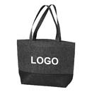 Opromo Custom Felt Tote Bag Reusable Shopping Bag Grocery Tote Essentials Shopping Bag Two Tone Felt Handbag