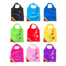 Strawberry Foldable Tote Bag with Handles, Reusable Grocery Shopping Bags, Lightweight and Portable, Random Color