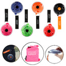 Opromo Reusable Shopping Bags, Disc Design Portable Tote Pouch Clips Rotatable Folding Eco Roll-up Shoudler Bag