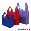 Opromo Non-Woven Reusable Tote Bag Grocery Bag with Handles for Shopping, 10