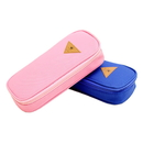 Blank Students Big Capacity canvas Pencil Case, 7-2/3
