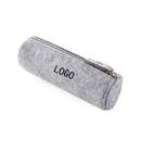 Custom Gray Felt Pen Pencil Case Stationery Pouch Bag Case Cosmetic Bags, 7-7/8