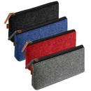 Opromo Felt Zipper Pen Pouch Students Pen Case, DIY Fabric Bag