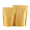 2 OZ Natural Kraft Foil Stand Up Zip Pouch - Pack of 50, FDA Compliant
