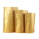4 OZ Stand-Up Pouch Foil Lined Natural Kraft Bags with Zipper - Pack of 50, FDA Compliant
